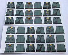 Custom 36 stickers german soldiers  WW2 GERMAN grey uniform - SIZE - lego torso