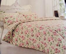 Letto matrimoniale 100% Cotone Spazzolato Crema e rosa floreale Flannelette Set Copripiumino