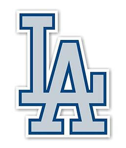 "Los Angeles Dodgers ""LA"" (grey) Decal / Sticker Die cut"
