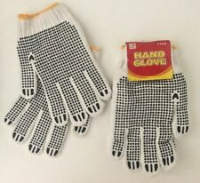 24 Pairs White/Black Garden/Work Latex Hand Gloves-W Crinkle-Unisex-One Size/Fit