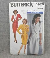 Butterick 3923 Misses Miss Petite 14-18 Dress Shawl collar double breasted