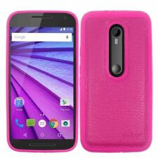Fundas y carcasas color principal rosa para teléfonos móviles y PDAs Motorola