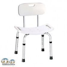 Sedia per doccia con schienale e seduta antiscivolo braccioli laterali disabili