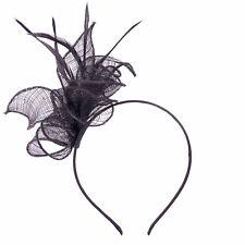 Black Headband Aliceband Hat Fascinator Wedding Ladies Day Race Royal Ascot 5