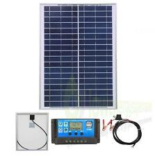 20w Poly Solar Panel Battery Charging Kit Charger Controller Boat Caravan HomeK1