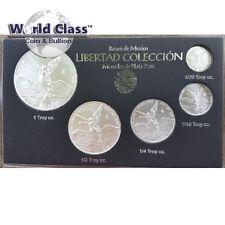 2017 .999 fine silver 5pc Mexico Libertad set BU (1.9 oz total weight)