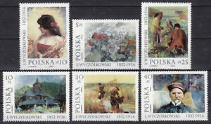 POLAND 1987 **MNH SC#2788/93 Polish Painting - Leon Wyczolkowski