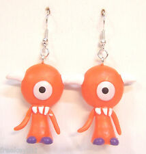 "Harajuku Japan The Gooli Monsters Orange Koz Mini Art Toys 2"" Dangle Earrings"