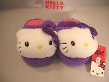Slippers HELLO KITTY by Sanrio Purple Sequined Synthetic Girls Sz 5 - 6 New