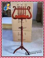 Wood Music Stand Lyre Mahogany violin clarinet Sheet Stage Tripod Bookplate sets