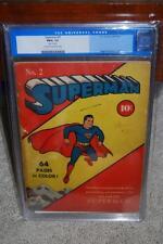 Superman #2 CGC 1.5 DC 1939 JLA! Follows Action #1 Justice League! C12 698 cm