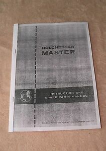 Colchester Master Round Head Lathe Manual (World Post)