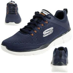 Skechers Equalizer 3.0 Herren Air Cooled Sneaker Trainer Memory Foam blau