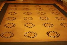 Beautiful primitive, 5'x7' floorcloth area rug. Can't beat the price!!!