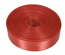 """10 Yards Rolled up 5/8"""" SINGLE FACE SATIN Ribbon 100% Polyester Choose Color"""