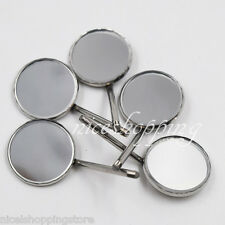 5x Stainless Steel Dental Mirror Plain Size 20mm Surgical Instrument Equipment