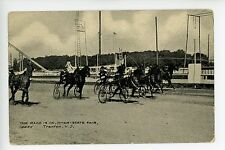 """""""The Race Is On"""" Trenton NJ Horse Racing Steeplechase State Fair ca. 1910s"""