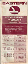 EASTERN AIRLINES US AVIATION TIMETABLE 1983 NEW YORK / NEWARK