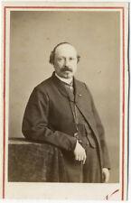 Photo Nadar Cdv Portrait François Ponsard Écrivain Vers 1860