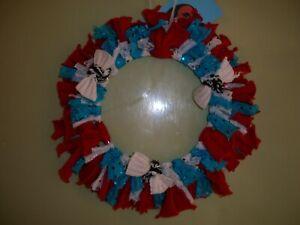 Christmas Wreath rag wreath. Hand made
