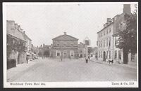 Oxfordshire. Woodstock. Woodstock Town Hall. Vintage Taunt & Co. Postcard #1219