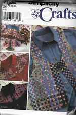 Shirt VEST Hat PATTERNS Sz XSML to XLG WOVEN