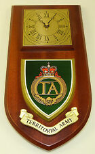TERRITORIAL ARMY HAND MADE TO ORDER REGIMENTAL  WALL CLOCK