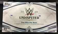 2020 WWE TOPPS UNDISPUTED HOBBY BOX FACTORY SEALED 8 AUTOS PER BOX