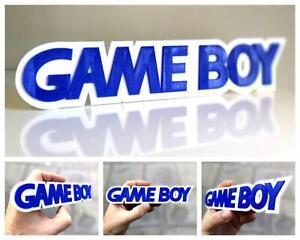 Nintendo Game Boy 3D logo / shelf display / fridge magnet - gaming collectible