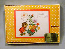 Vintage Hallmark Ladybug Thank You Self-Sealing Notelettes Cards - MIB