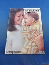 COATS CLARKS FASHIONS BABY PATTERN BOOK KNIT CROCHET CANADIAN EQUIVALENTS CHART