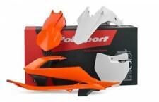 Pièces détachées de carrosserie et cadres orange pour le côté gauche Polisport pour motocyclette
