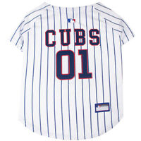 Chicago Cubs MLB Pets First Officially Licensed Pinstripe Dog Jersey, White