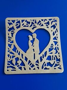 Bride And Groom wedding Invite/card Die Cut Topper made from kraft card 140gsm