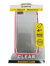 NEW! Griffin Survivor Clear Case for Apple iPhone SE2(2020) 8 7 6s 6 Clear Pink
