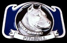 Pit Bull Guard Dog House Pet Animal Canine Belt Buckle Boucle de Ceinture Chien