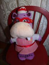 "Disney Doc Mcstuffins Hallie Hippo Plush 8"" Stuffed Doll Purple Nurse Just Play"