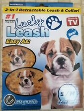 Lucky Leash, Retractable Dog Leash & Collar 2 in 1 for Sm/Med Dogs 10 - 35 Lbs