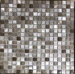 Extra American Olean Delfino Tropical Beach Metal Mosaic Square Wall Tiles