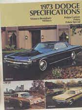 1973 Dodge Monaco Polara Brochure Canada my3244