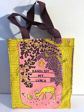 Blue Q Handy Tote Lunch Bag Carryall or Reusable Gift Bag - HANDS OFF MY LUNCH