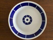 "Sargadelos Spain ~ Set of 4 ~ Geometric Design Plates Cobalt Blue & White  8"""