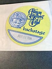 The Allman Brothers Band Backstage Pass August 31st 1994 H.O.R.D.E. Festival