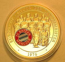 FC Bayern München Fußball 1976 Landesmeister Europa-Cup golden Farbe Gr. Erfolge