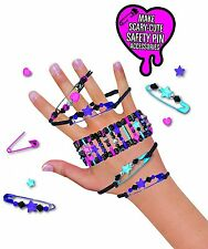 Monster High Safety Pin Bracelet Kit Girls Creative Toy Gift Box New 7+