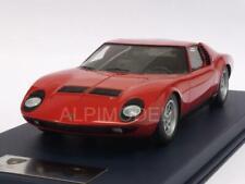 Lamborghini Miura P400 Paris Motorshow 1966 Red with displ 1:18 LOOKSMART LSMH02