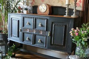 Vintage 1930s Solid Oak sideboard, cabinet. Dresser.