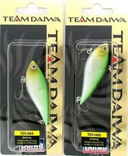 (2) Rare Team Daiwa 3/8 Oz Vibration 106 Lipless Crankbait Green Shad TDV106S15