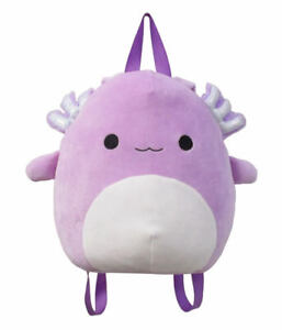 Squishmallows Monica Axolotl Backpack 12 inch Plush Genuine Kellytoy