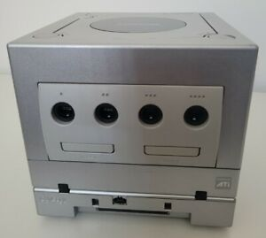 Official Silver Nintendo Gamecube With Gameboy Player Bundle